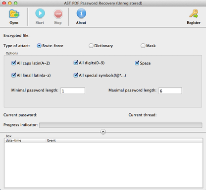 PDF Password Recovery for Mac